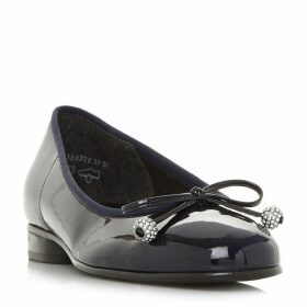 Gabor Lisa Crystal Detail Bow Ballerina Pumps