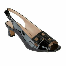 Lotus Shoes Aubrey Peep Toe Sling Back Courts