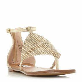 Steve Madden Cord Sm Diamante Chain Mail Flat Shoes