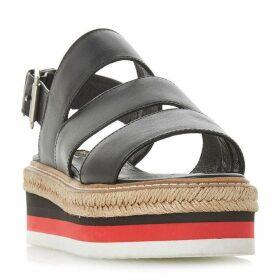 Dune Black Look Colour Flash Flatform Sandal Shoes