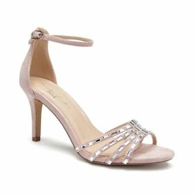 Paradox London Pink Santra Diamante Ankle Strap Sandals