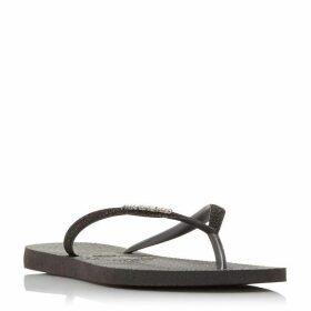 Havaianas 4143975 Slim Glitter Strap Flip Flops