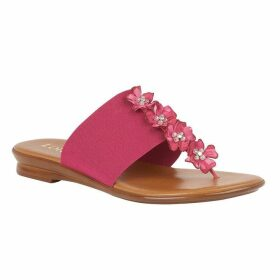Lotus Shoes Alicia Flat Toe-Post Mule Sandals