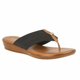 Lotus Shoes Hera Flat Toe-Post Mule Sandals