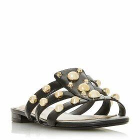 Dune Wf Nell Wide Fit Stud Embellished Mule Sandals