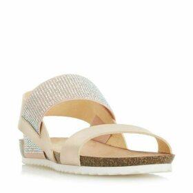 Head Over Heels Laurella Elasticated Strap Flat Sandals