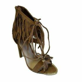Qupid Interest fringe sandal