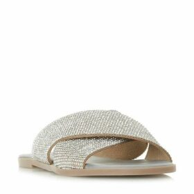 Dune Nevadaa Cross Diamante Strap Sandals
