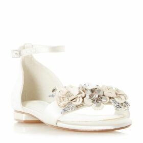 Dune Nightinggail Bridal Flower Trim Sandals