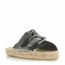 Dune Black Luso Flatform Sandal Shoes