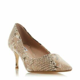 Dune Astal Kitten Heel Court Shoes