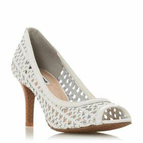 Dune Cruise Textured Peep Toe Court Shoes