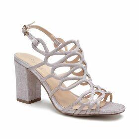 Paradox London Pink Salisa Glitter High Block Heel Sandals