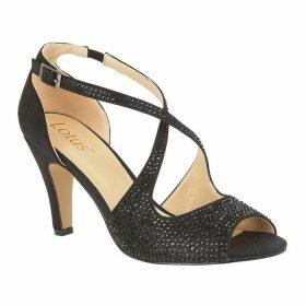 Lotus Shoes Rosa Peep-Toe Court Shoes