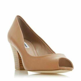 Dune Cathy Block Heel Peep Toe Court Shoes