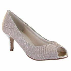 Rainbow Club Iona metallic peep toe court shoes