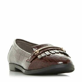 Head Over Heels Goldiie Patent Fringed Loafers