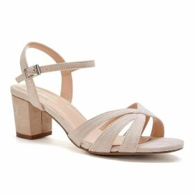 Paradox London Pink Camille Wide Fit Mid Heel Sandals