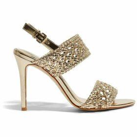 Karen Millen Woven Stiletto Heels