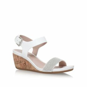 Carvela Sparkle Mid Heel Wedge Sandals