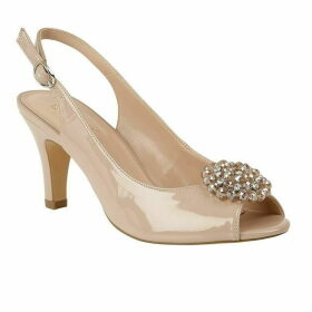 Lotus Shoes Elodie peep toe sling back heels