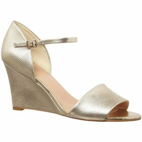 Phase Eight Metallic Leather Wedges