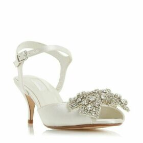 Dune Majestiie Diamanté Kitten Heel Shoes