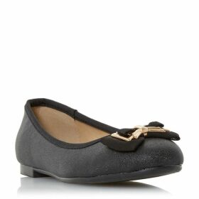 Head Over Heels Haze Bow Detail Ballerina Shoes