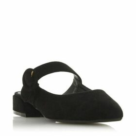 Dune Donnor Round Buckle Flat Mules