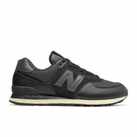 New Balance 574 Leather Canvas Trainers