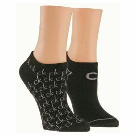 Calvin Klein Underwear Repeat logo 2 pair pack trainer socks