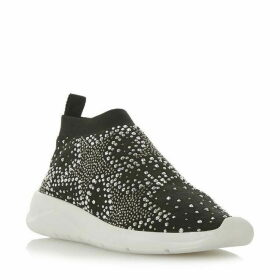 Dune Emerald Star Diamante Sock Trainers