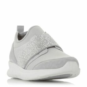 Dune Excitable Slip On Elastic Strap Trainers
