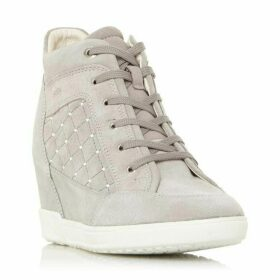Geox D Carum C Snake Print Hi Top Trainers
