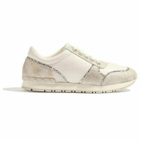 Karen Millen Leather Glitter Trainers