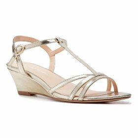 Paradox London Pink Tessa Wedge T-Bar Sandals