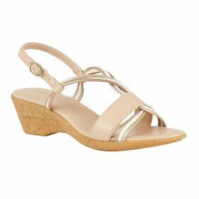 Lotus Shoes Carrara Slingback Wedge Sandals