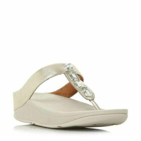 Fitflop Roka Jewel Toe Post Wedged Sandal Shoes