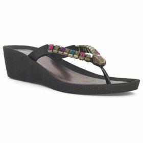 Chesca Multi Coloured Gem Wedge Sandal