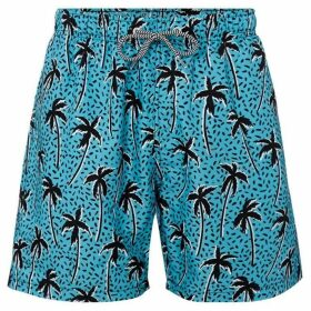 Boardies Flair Palm Print Mid Length Swim Short