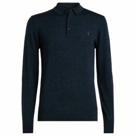 All Saints Mode Merino Long Sleeve Polo