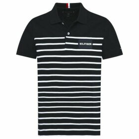 Tommy Hilfiger Breton Stripe Polo Top