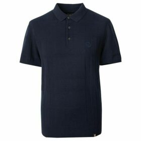 Pretty Green Tonal Jacquard Polo