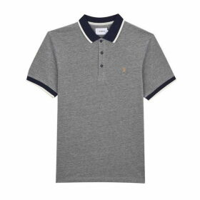 Farah SLIM FIT TIPPED RIBBED COLLAR POLO