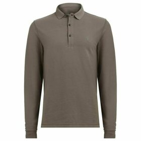 All Saints Reform Long Sleeve Polo