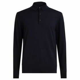 All Saints Lang Merino Polo