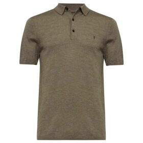 All Saints Mode Merino Short Sleeve Polo