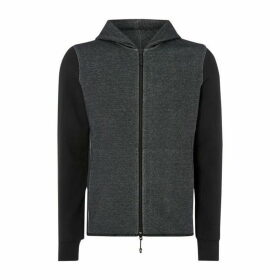 Armani Exchange Logo Zip Hooded Sweatshirt