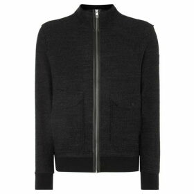 Boss Zalyn Double Pocket Zip-Up Funnel Neck Sweatshirt