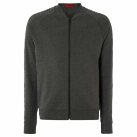 Hugo Domber Zip Up Bomber Sweatshirt